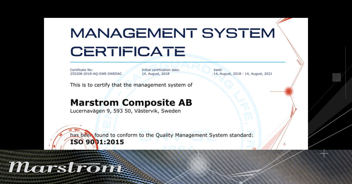 Marstrom certified in accordance with IS09001