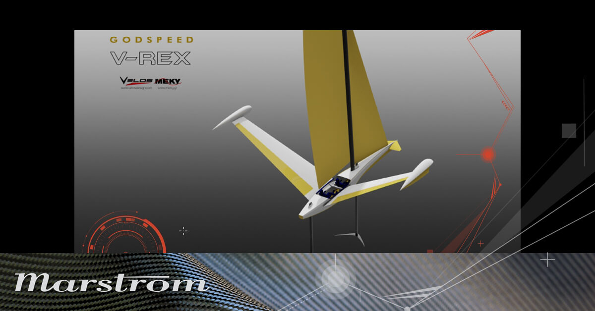 Marstrom is supporting V_REX, the foiling-flying-sailing vessel